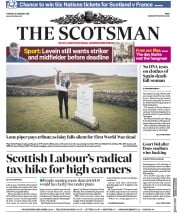 The Scotsman (UK) Newspaper Front Page for 30 January 2018