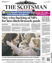 The Scotsman (UK) Newspaper Front Page for 30 January 2019