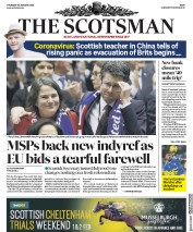 The Scotsman (UK) Newspaper Front Page for 30 January 2020