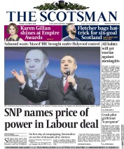 The Scotsman (UK) Newspaper Front Page for 30 March 2015