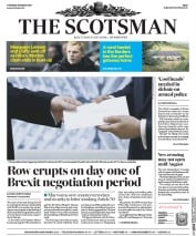 The Scotsman (UK) Newspaper Front Page for 30 March 2017