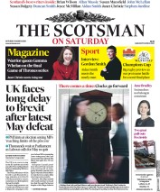 The Scotsman (UK) Newspaper Front Page for 30 March 2019