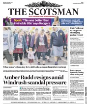 The Scotsman (UK) Newspaper Front Page for 30 April 2018