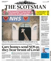 The Scotsman (UK) Newspaper Front Page for 30 April 2020