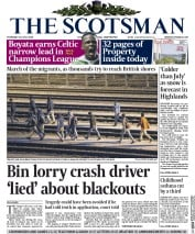 The Scotsman (UK) Newspaper Front Page for 30 July 2015