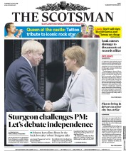 The Scotsman (UK) Newspaper Front Page for 30 July 2019