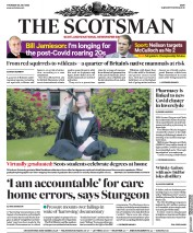 The Scotsman front page for 30 July 2020