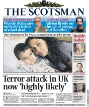 The Scotsman (UK) Newspaper Front Page for 30 August 2014
