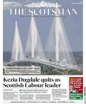 The Scotsman (UK) Newspaper Front Page for 30 August 2017