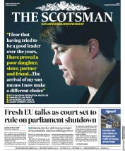 The Scotsman (UK) Newspaper Front Page for 30 August 2019