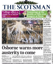 The Scotsman (UK) Newspaper Front Page for 30 September 2014