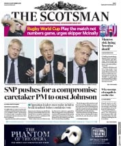The Scotsman (UK) Newspaper Front Page for 30 September 2019