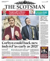 The Scotsman (UK) Newspaper Front Page for 31 October 2019