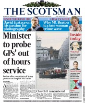 The Scotsman (UK) Newspaper Front Page for 31 January 2015