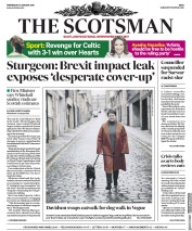 The Scotsman (UK) Newspaper Front Page for 31 January 2018