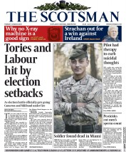The Scotsman (UK) Newspaper Front Page for 31 March 2015