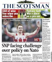 The Scotsman Newspaper Front Page (UK) for 31 July 2012