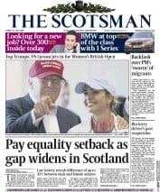 The Scotsman (UK) Newspaper Front Page for 31 July 2015
