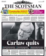 The Scotsman front page for 31 July 2020