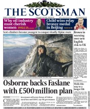 The Scotsman (UK) Newspaper Front Page for 31 August 2015