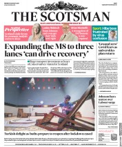 The Scotsman (UK) Newspaper Front Page for 31 August 2020