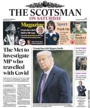 The Scotsman front page for 3 October 2020