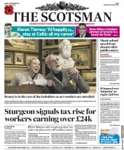 The Scotsman () Newspaper Front Page for 3 November 2017