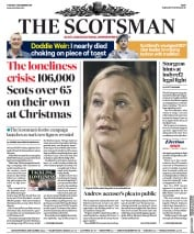 The Scotsman () Newspaper Front Page for 3 December 2019