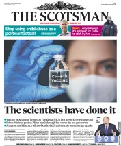 The Scotsman front page for 3 December 2020