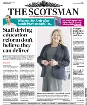 The Scotsman (UK) Newspaper Front Page for 3 January 2018