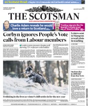 The Scotsman (UK) Newspaper Front Page for 3 January 2019