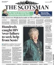 The Scotsman (UK) Newspaper Front Page for 3 January 2020