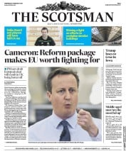 The Scotsman () Newspaper Front Page for 3 February 2016