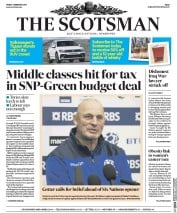 The Scotsman (UK) Newspaper Front Page for 3 February 2017
