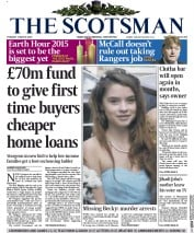 The Scotsman (UK) Newspaper Front Page for 3 March 2015