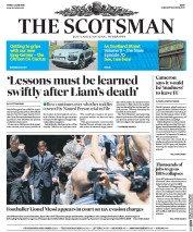 The Scotsman () Newspaper Front Page for 3 June 2016