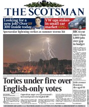 The Scotsman (UK) Newspaper Front Page for 3 July 2015