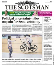 The Scotsman (UK) Newspaper Front Page for 3 July 2017