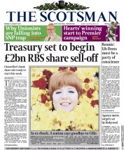 The Scotsman (UK) Newspaper Front Page for 3 August 2015