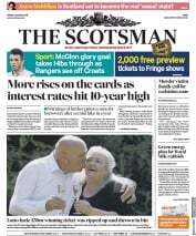 The Scotsman (UK) Newspaper Front Page for 3 August 2018