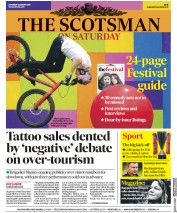 The Scotsman (UK) Newspaper Front Page for 3 August 2019