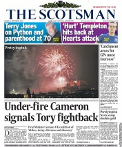 The Scotsman Newspaper Front Page (UK) for 3 September 2012
