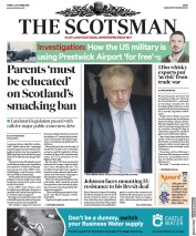 The Scotsman (UK) Newspaper Front Page for 4 October 2019