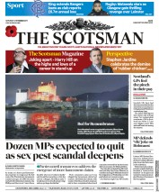 The Scotsman (UK) Newspaper Front Page for 4 November 2017