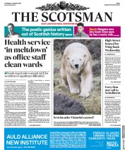 The Scotsman (UK) Newspaper Front Page for 4 January 2018