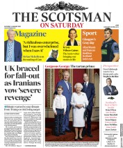 The Scotsman (UK) Newspaper Front Page for 4 January 2020