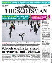 The Scotsman front page for 4 January 2021