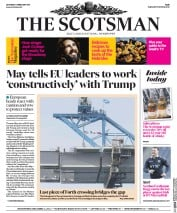 The Scotsman (UK) Newspaper Front Page for 4 February 2017