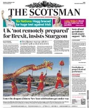 The Scotsman () Newspaper Front Page for 4 February 2019