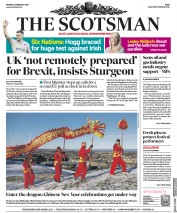 The Scotsman (UK) Newspaper Front Page for 4 February 2019